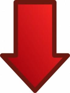 red_arrows_set_down_clip_art_9309